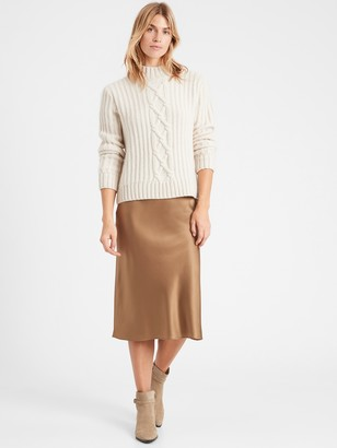 Banana Republic Petite Heritage Washable Silk Bias-Cut Skirt