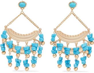 Kenneth Jay Lane Gold-tone Stone Earrings