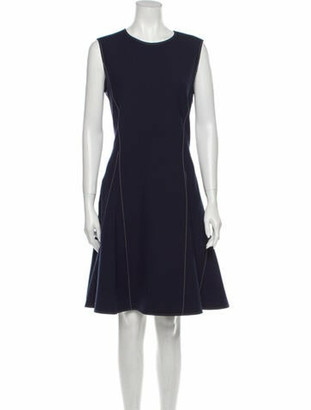 ADEAM Crew Neck Knee-Length Dress w/ Tags Blue