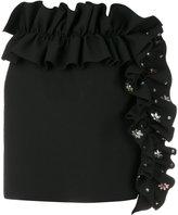 MSGM ruffled mini skirt - women - Elastodiene/Polyester - 40