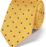 Charles Tyrwhitt Gold and blue silk spot classic tie