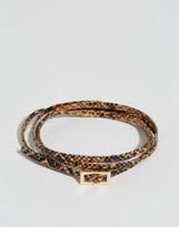 Asos Snake Print Wrap Bracelet