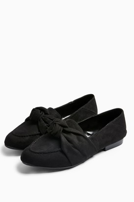Topshop WIDE FIT AYLA Black Knot Loafers