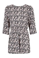 Select Fashion Fashion Womens Black Ditsy Long Sleeve Playsuit - size 10