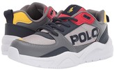 Polo Ralph Lauren Chaning (Little Kid) (Grey Mesh/Tumbled/Navy/Red/Yellow/Yellow PP) Kids Shoes