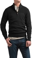 Coleman Zip Neck Sweater - Sherpa-Lined Collar (For Men)