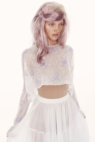 Wildfox Couture Rodeo Star Billy Cropped Sweater in Clean White