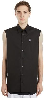 Raf Simons Sleeveless Cotton Poplin Shirt