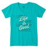 Life is Good Life Is Good? Crusher V-neck Shirt.