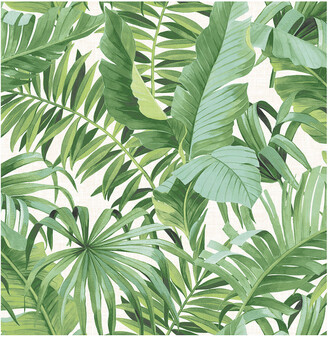 A-Street Prints Alfresco Green Palm Leaf Wallpaper