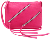 Fuchsia Asymmetrical-Zipper Crossbody Bag