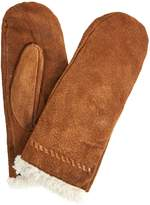 Isotoner Suede Mitten with Sherpa Trim