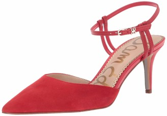 Sam Edelman Women's Javin Pump Lipstick Red Suede 9 M US