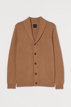 H&M Shawl-collar Cardigan - Beige