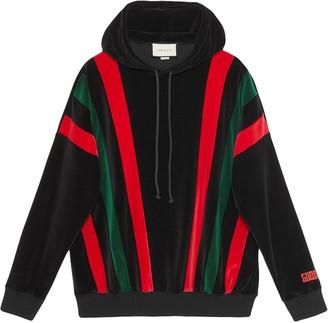 Gucci chenille Web stripe hoodie