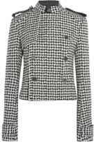 Haider Ackermann Double-breasted Houndstooth Wool-blend Jacket - Black