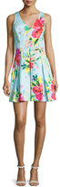 Trina Turk Floral-Print Fit-&-Flare Dress, Multi Colors