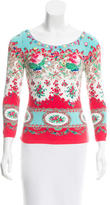 Blumarine Floral Patterned Scoop Neck Sweater w/ Tags