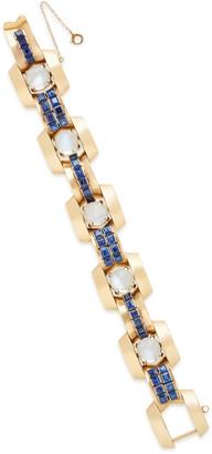 Gioia Bini Retro 18K Gold, Moonstone And Sapphire Bracelet