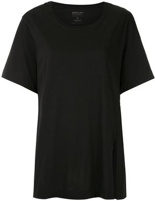 OSKLEN side-slit short-sleeved T-shirt