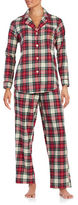 Lauren Ralph Lauren Brushed Twill Notch Pajama Pants Set