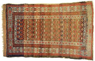 "One Kings Lane Vintage Antique Persian Sarab Rug - 3'8"" x 6'1"" - Esmaili Rugs & Antiques - rust/orange/brown/tan/navy"