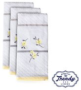 Spring Garden Embroidered White Hand Towels - Bathroom Shower Collection - Set of 3 Hand Towels - Exclusive Towel Set by Trendy Linens
