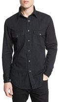Tom Ford Western-Style Tailored Denim Shirt, Black