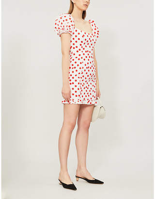 De La Vali Koko polka-dot cotton mini dress