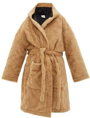 Vetements Anarchy Faux Fur Teddy Coat - Womens - Beige