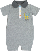 Kushies Light Gray On Safari Romper - Infant