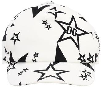 Dolce & Gabbana Star Printed Cotton Baseball Hat