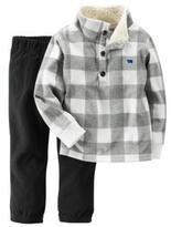 Carter's Boys' 'Grey Check' 2-Piece Pullover & Pant Set