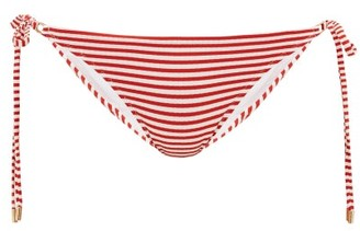Melissa Odabash Cancun Striped Side-tie Bikini Briefs - Red Stripe