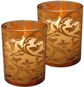 LumaBase Flameless Jacquard Timer Candle 2-piece Set