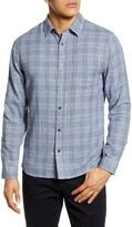 Vince Slim Fit Double Face Plaid Button-Up Shirt