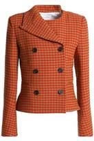 Sonia Rykiel Double-Breasted Gingham Wool-Blend Jacket