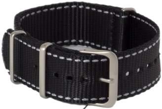 Hadley Roma Hadley-Roma MS4220RT 220 22mm Nylon Black Watch Strap