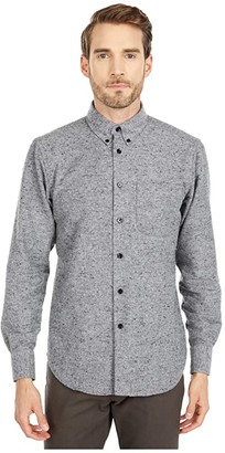 Naked & Famous Denim Easy Shirt in Nep Twill (Grey) Men's Clothing