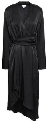 Equipment Adisa Asymmetric Wrap-effect Satin Dress
