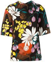 Marni Madder print top - women - Cotton/Linen/Flax - 40