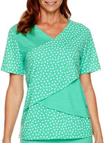 Alfred Dunner Always In Style Short-Sleeve Print Tiered Top