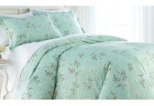 SouthShore Fine Linens Forget Me Not Cotton Reversible 3 Piece Duvet Cover and Sham Set, King Bedding