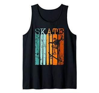 Distressed Skeleton Skateboarding Retro Skate or Die Skull Tank Top
