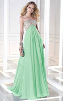 Alyce Paris - 35695 Embellished Empire Gown with Keyhole Cutout
