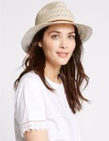 Marks and Spencer Crochet Braid Trilby Summer Hat