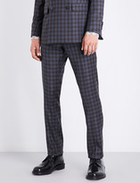 Paul Smith Kensington-fit slim-fit skinny checked wool trousers
