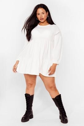 Nasty Gal Womens Tier's the Deal Plus Mini Dress - Ivory