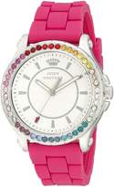 Juicy Couture Women's 1901277 Pedigree Stainless Steel Watch with Pink Silicone Band