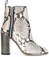 Diesel snakeskin effect boots
